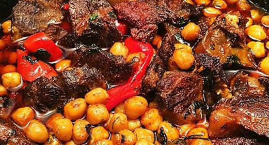 steak with chick peas